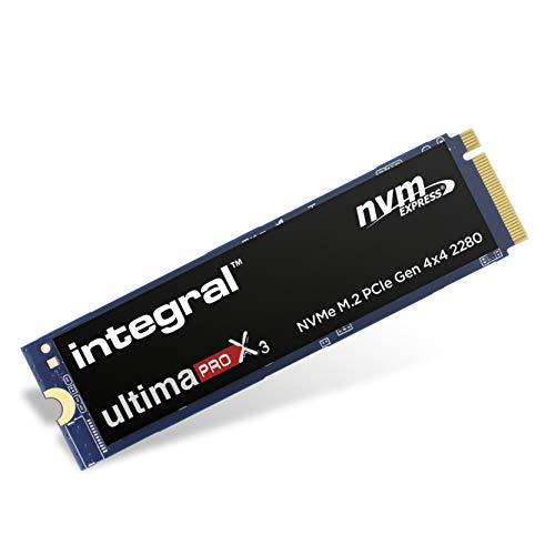 Integral Ultima Pro X3 500 GB NVMe M.2 Interno SSD PCIe Gen 4x4 2280, fino a 5000 MB/s in lettura 2500 MB/s in scrittura, per giochi estremi e editing video/grafica