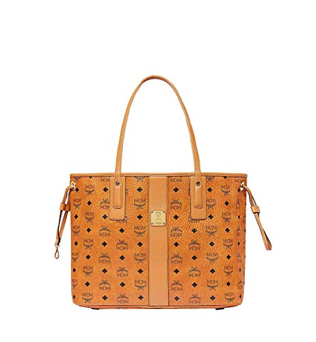 Turn your day of shopping into a day of fashion carrying the MCM™ Liz Medium Shopper. Shopper made of coated canvas. Top spacious opening with side drawstrings for closure. Dual leather flat top handles. Brand name engraved on tag at front.  Signatur...