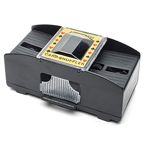 win-full Playing Card Shuffler, Automatic Battery Operated 2 Deck Casino Dealer Travel Machine Dispenser,Card Holders for Playing Cards, Canasta Cards with Point Values