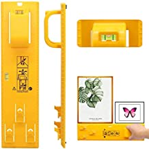 AMERTEER Picture Hanging Tool, Portable Picture Frame Hanger Tool with Bubble Level, Level Ruler Measuring Marking Tool fo...