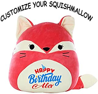 Squishmallow Customized Happy Birthday Original Kellytoy Fifi The Red Fox 8