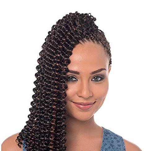 UK: Impression. Extension de cheveux noire ondulée (tresse, crochet ou crochet) 55,9 cm