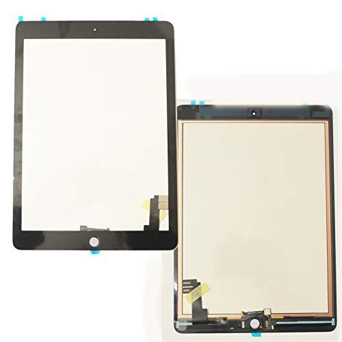 Bucom Touchscreen Display Front Scheibe für A1566 A1567 Ipad 6 Air 2 Digitizer Glas schwarz selbstklebend