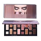 Paleta de sombras de ojos de 16 colores, paleta de maquillaje de sombra de ojos con brillo de perlas mate profesional, cosméticos de maquillaje de ojos metálicos pigmentados a prueba de agua