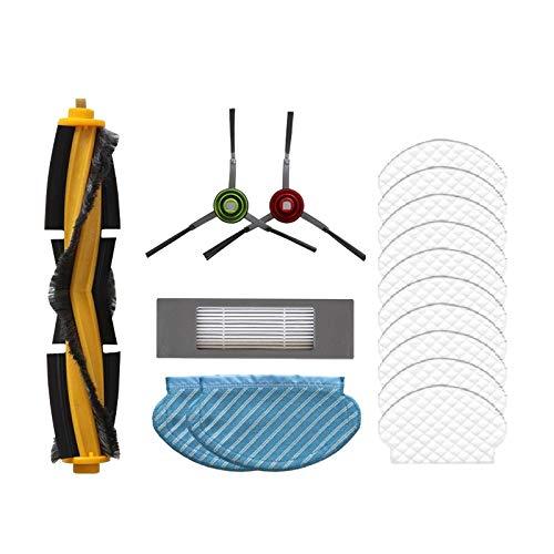 KU Syang 16 Teiliges Rollen Seiten BüRsten Filter Kit für Deebot Ozmo 950 920 Ersatz Teile für Staub Sauger Teile