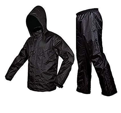 starstep Men/Women Raincoat/Rainwear/Rainsuit/barsaati/Overcoat with Hoods and Side Pocket 100% Waterproof Portable rain Suit for Men/Women Free Size Black
