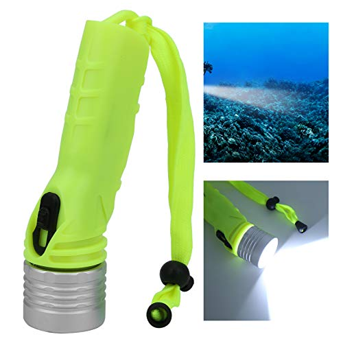 Gatuxe Linterna subacuática, Linterna LED Linterna de aleación de Aluminio con un cordón sólido para bucear para Acampar Explorar