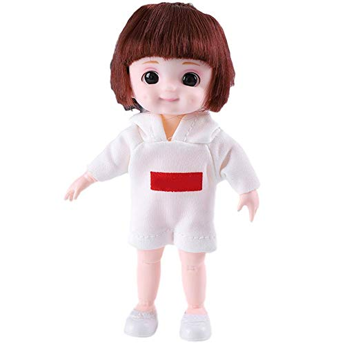 Feunet 1/6 BJD Doll (bewegliches Gelenk) - Süße Puppe Realistische Puppen Für Mädchen , Kleine Puppen Mit Puppenkleidung , Maßgeschneidertes Kleid DIY Puppen.