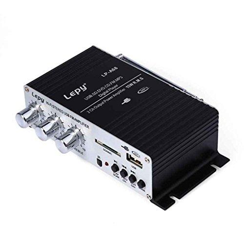Babysbreath17 Multifunktions-Enhancer-Player Haushalt Verstärker FM MP3 USB-Lautsprecher, MP3-Karte Stereo-Audio-Auto-Energien-Lautsprecher für lepy A68
