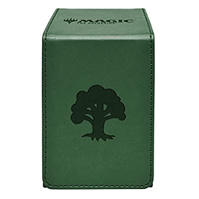"""Ultra Pro Magic: The Gathering """"Forest"""" Alcove Flip Box for Standard Size Trading Cards"""