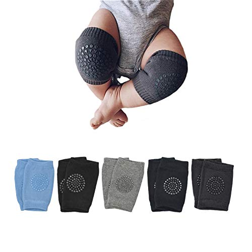 Baby Crawling Anti Slip Knee Pads, Unisex Baby Knee Protectors Toddler Leg Warmer Safety Walking Kneepads 5 Pairs