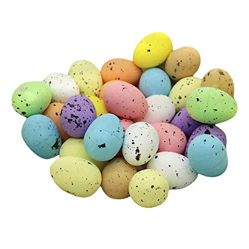 lahomia 30 Piezas de Espuma de Huevos de Pascua, Simulación de Huevos de Pascua, Juego de, Manualidades para El Hogar