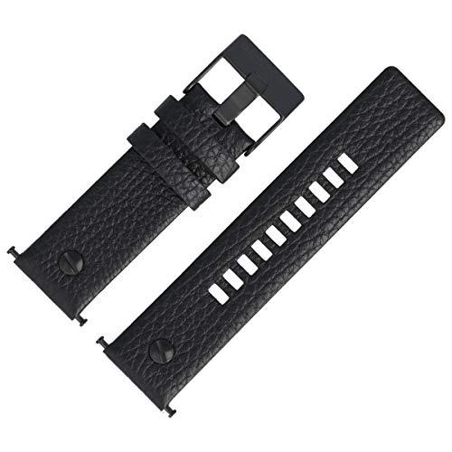Diesel Uhrenarmband 24mm Leder Schwarz - DZ-7291