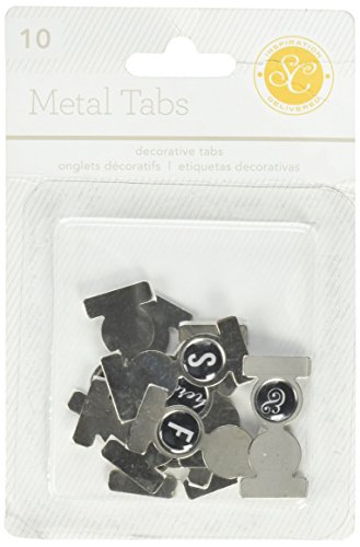 Studio Calico 10-Piece Lemon Lush Metal Folded Tabs with Epoxy Icons