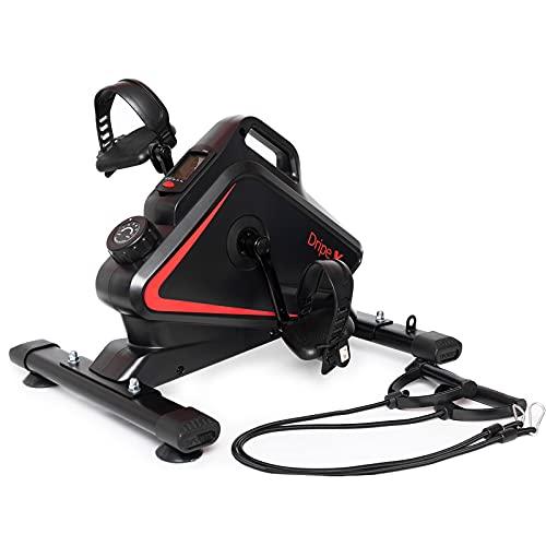 Dripex Minibike Heimtrainer, Mini-Fitnessbike mit einstellbarem magnetischem Widerstand, Arm-und Beintrainer für Senioren,Mini-Fahrrad mit LCD-Monitor, Pedaltrainer zuhause und im Büro