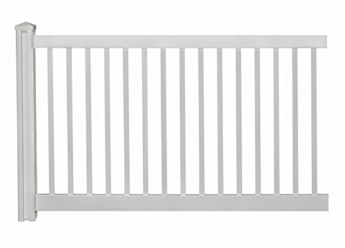 WamBam Vinyl Pool Fence Panel with Post and Cap – 4 ft. x 7 ft.