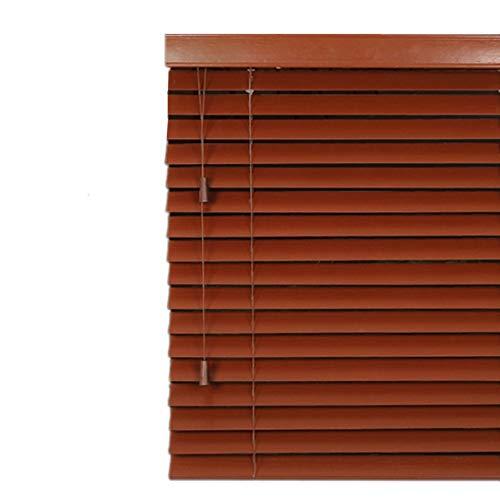 Lqdp Jalousie Rollos Fensterrollos Verdunkelungsvorhänge Jalousien Aus Holz - Einfache Innen- und Außenmontage, Mini Brown Sun Shade mit Beschlägen für Innenfenster