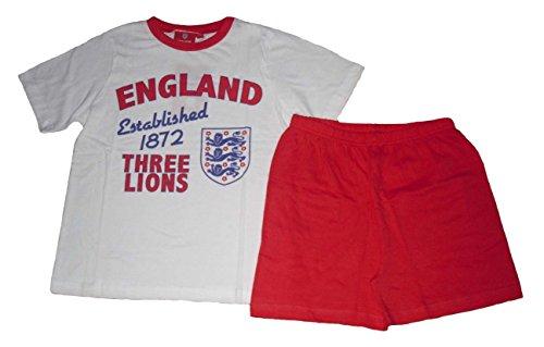 Pijama oficial Inglaterra niños 7 16 años Blanco