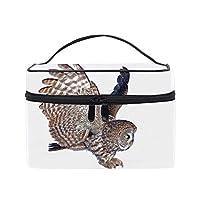 ホオジロフクロウメイクボックス コスメ収納 トラベルバッグ 化粧 バッグ 高品質