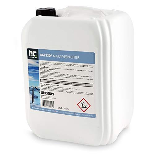 Höfer Chemie 10 L Pool Algenvernichter - Anti Algenmittel für Schwimmbad & Pool - gegen Algen