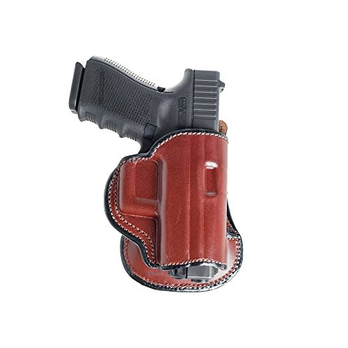 Paddle Leather Holster for Sig Sauer P938. Leather OWB Paddle with Adjustable Cant. Brown Right...