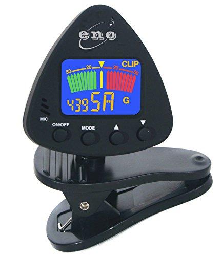 Eno-Clip auf Gitarrentuner Clip auf Ukulele Tuner Bass Tuner Violine Tuner chromatischen Tuner mit Batterie im Lieferumfang enthalten