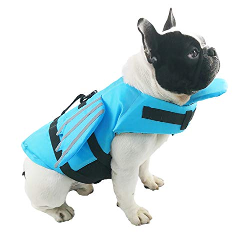 GabeFish Dog Life Vest with Chin Float, Angel Wings Cat Life Vests for Swimming, Pets Safety Swimsuit with Reflective Stripe