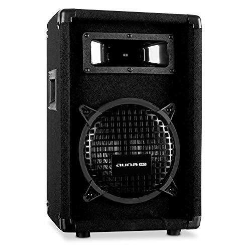 auna Pro PW - passiver PA-Lautsprecher PA-Box, 2-Wege-Lautsprecher, Impedanz: 8 Ohm, schwarz, Subwoofer/Horn-Mitteltöner, Belastbarkeit: 150 Watt RMS / 300 Wmax.