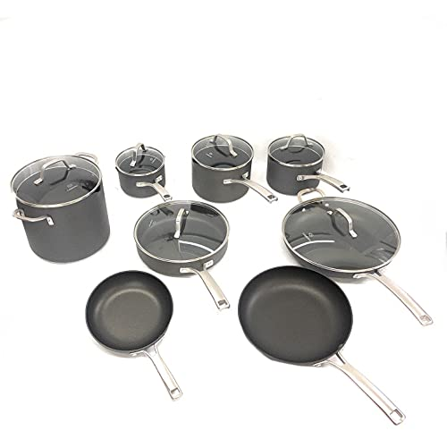 Calphalon Classic Nonstick 14 Piece Pots and Pans Cookware Set With BPA free No-Boil-Over Inserts...