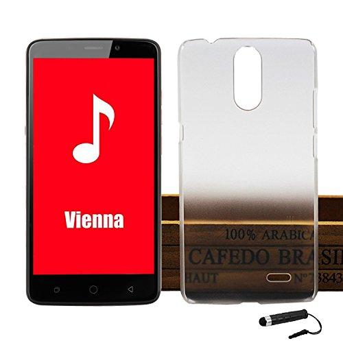 Tasche für Ulefone Vienna Hülle, Ycloud Handy Backcover Kunststoff-Hard Shell Hülle Handyhülle mit stoßfeste Schutzhülle Smartphone Weiß Transparent