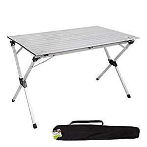 Aktive 52841 - Mesa plegable aluminio para camping 110x70x70 cm
