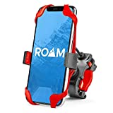 Roam Universal Premium Bike Phone Mount for Motorcycle - Bike Handlebars, Adjustable, Fits iPhone X, iPhone 8   8 Plus, Galaxy S9, S8, S7, Holds Phones Up to 3.5' Wide (Red)