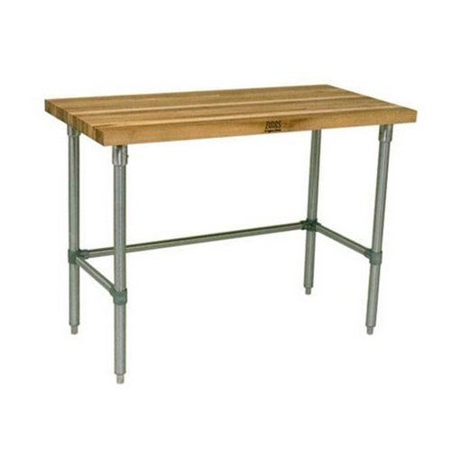 John Boos JNB07 Maple Top Work Table with Galvanized Steel Base and Bracing, 36″ Long x 30″ Wide x 1-1/2″ Thick