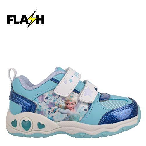 Character Light Ups Kinder Leuchtend Turnschuhe Blink Sportschuhe Sneaker Disney Frozen C10 (28)