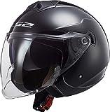 LS2 NC Casco per Moto, Hombre, Negro, XL