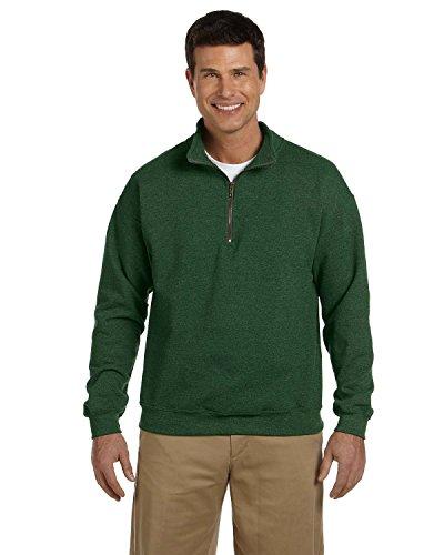 Gildan mens Heavy Blend 8 oz. Vintage Classic Quarter-Zip Cadet Collar Sweatshirt(G188)-MEADOW-L