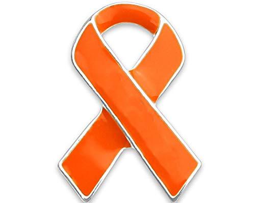 Orange Ribbon Awareness Pin in einer Tasche
