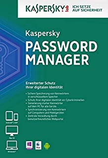 Kaspersky Password Manager, 1 CD-ROM (B07TLP9YCV) | Amazon price tracker / tracking, Amazon price history charts, Amazon price watches, Amazon price drop alerts
