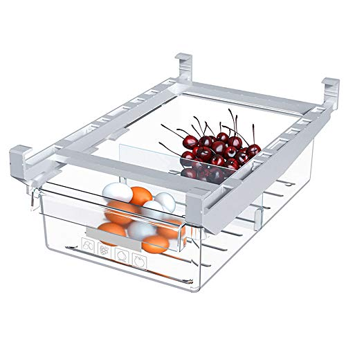 Fridge Drawer Organizer,Drawer Refrigerator Storage Box,Freezer Organizer Bins,Egg Holder For Refrigerator,Fridge Shelf Holder Storage Box,Fit For Fridge Shelf Under 0.6 Inch