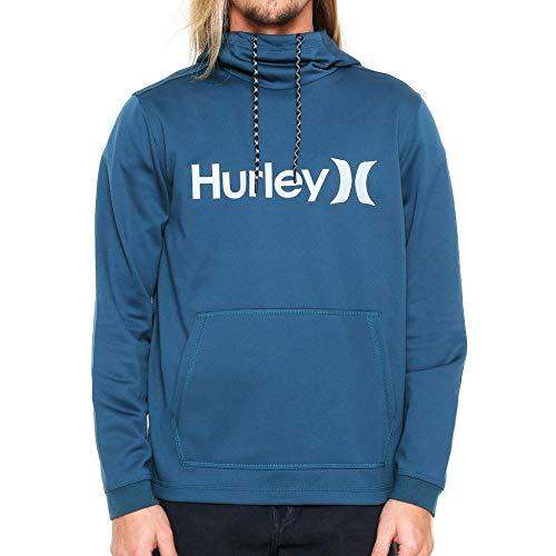 Moleton Hurley Fechado Thrm Pullover Azul G