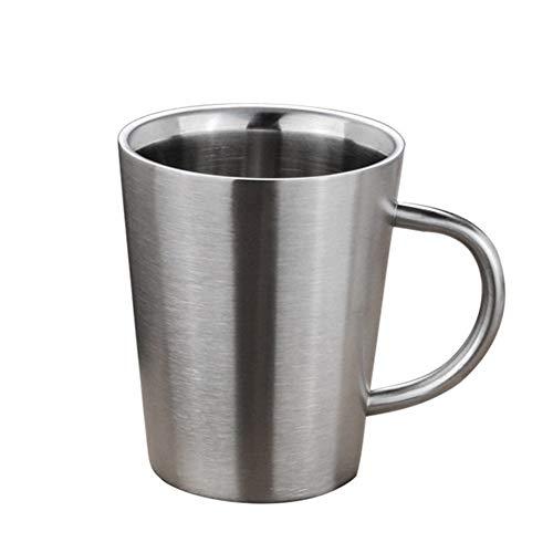 GZSC Reutilizable Taza de café Taza de café de Acero Inoxidable Tazas de Taza de Cerveza de Doble Pared Tazas de Cobre de Mula Creativa de Moscú for café Taza de té portátil (Color : Silver)