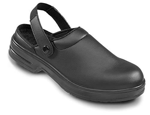 OTTER 60703 Berufs Clogs Flach EN ISO 20347 OB Berufsschuh Schuhe Halbschuhe, Größe:35