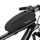 VEEAPE Bolsa Impermeable para Cuadro de Bicicleta MTB Bolsa para Bicicleta de Carretera Tubo Frontal Gran Capacidad, Velcro Ajustable/Material Reflectante