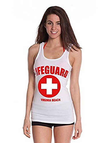LIFEGUARD Official Girls Printed Tank Top White Medium