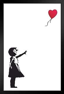 Pyramid America Banksy Balloon Girl Black Wood Framed Art Poster 14x20