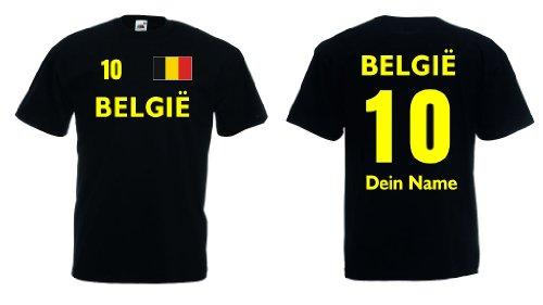 Fruit of the Loom Belgien/Belgie T-Shirt mit Wunschname und Wunschnummer Trikot|s-l