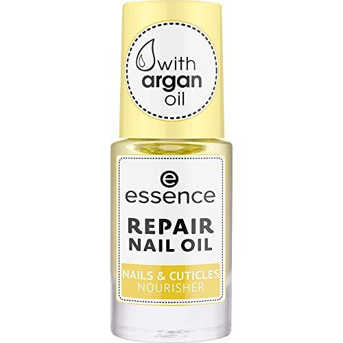 essence REPAIR NAIL OIL NAILS & CUTICLES NOURISHER, Nagelöl, transparent, reparierend, pflegend, natürlich, ohne Aceton, vegan, ohne Konservierungsstoffe (8ml)
