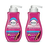 Hair Removal Cream - Veet Legs & Body In Shower Cream Hair Remover, Sensitive Formula with Aloe Vera and Vitamin E, 13.5 fl oz Pump Bottle (Pack of 2)