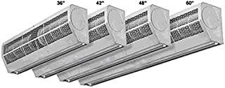 Air Door and Air Curtain - 2 Speeds - 60 in. Width - Single Phase - Voltage 110-120 - Stainless Steel