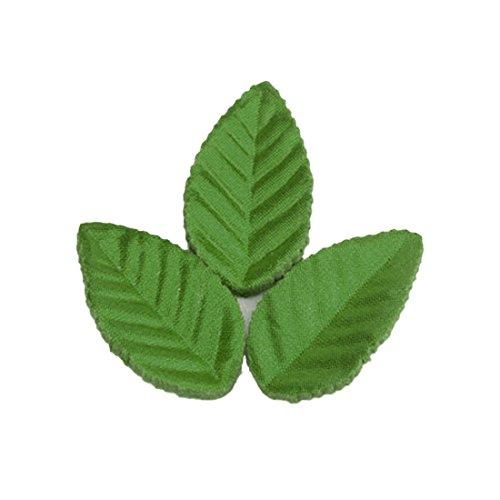 Luwu-Store 160 hojas artificiales, ideales para Navidad, verdes, compatibles con decoración de bodas y hojas de rosas
